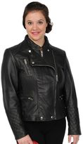 Excelled Quilted Leather Motorcycle Jacket