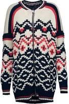 Maje Intarsia-Knit Wool-Blend Sweater