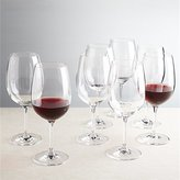 Crate & Barrel Viv Big Red Wine Glasses, Set of 8