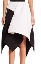 Proenza Schouler Colorblock Asymmetric Skirt