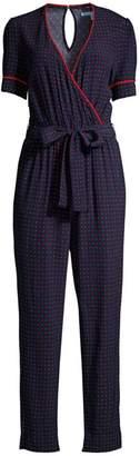 Draper James Faux Wrap Printed Jumpsuit