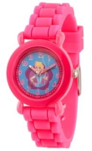 EWatchFactory Girl's Disney Toy Story 4 Bo Peep Pink Plastic Time Teacher Strap Watch 32mm