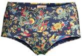 Tory Burch Floral High-Waisted Bikini Bottoms