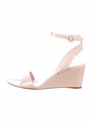Prada Patent Leather Sandals Pink