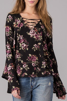 Others Follow Lace Up Floral Shirt
