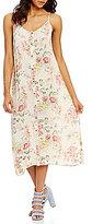 Billabong Ez Breezy Floral Printed Lattice-Back Maxi Dress