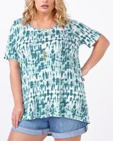 Penningtons d/c JEANS Short Sleeve Printed Top with Crochet
