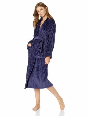 Aria Women's Plush Cable Knit Chenille Ballet WRAP Robe