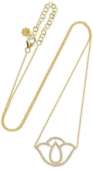 Amrapali Thamarai Lotus 18-karat Gold Diamond Necklace