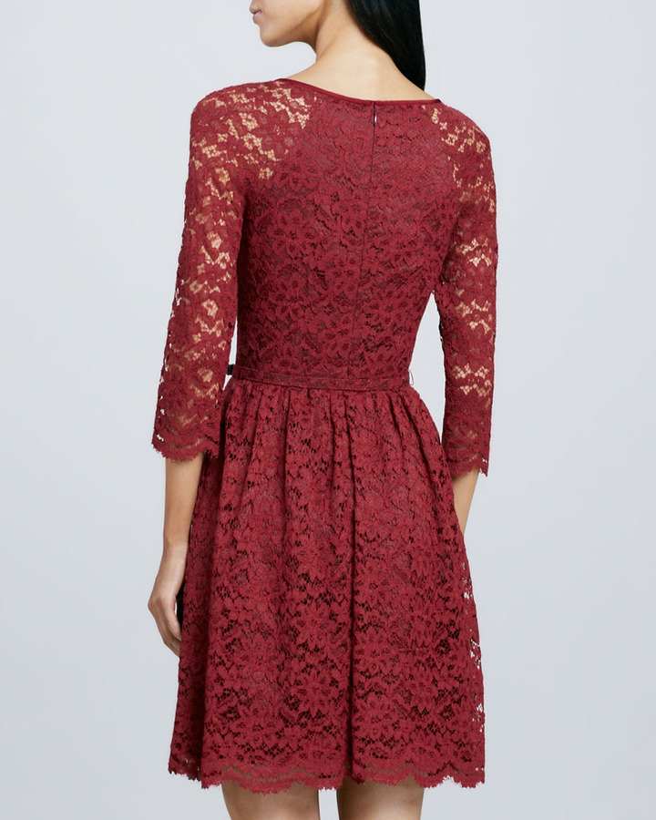Trina Turk Rosalind Belted Lace Dress