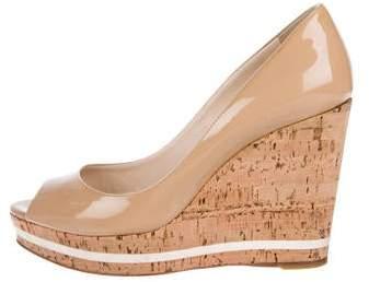 8bfc24419f46b Patent Leather Peep Toe Wedge - ShopStyle