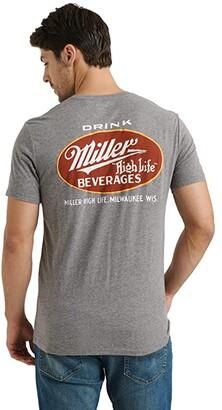 Lucky Brand Miller High Life Tee (Heather Grey) Men's Clothing