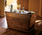 Personalized Vineyard Cart Coffee Table