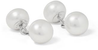 Trianon White Gold Pearl Cufflinks
