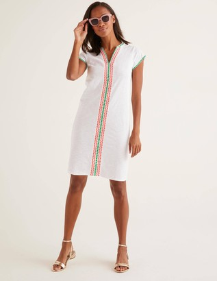 Peggy Embroidered Jersey Dress