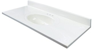 """Transolid 43"""" Single Bathroom Vanity Top Top Finish: Off White"""
