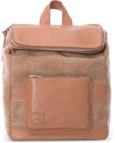 Toms Cognac Multi Texture Leather Mix Endeavour Backpack
