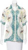 Anna Sui Printed Button-Up Top w/ Tags