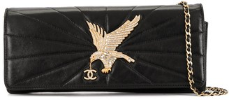 Chanel Pre Owned Eagle Rhinestone Quilted Shoulder Bag