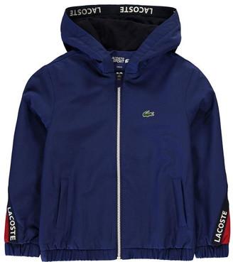 Lacoste Tape Sleeve Hooded Rain Jacket
