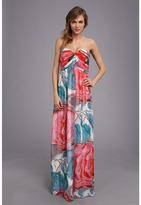 Donna Morgan Laura Long Printed Chiffon Gown