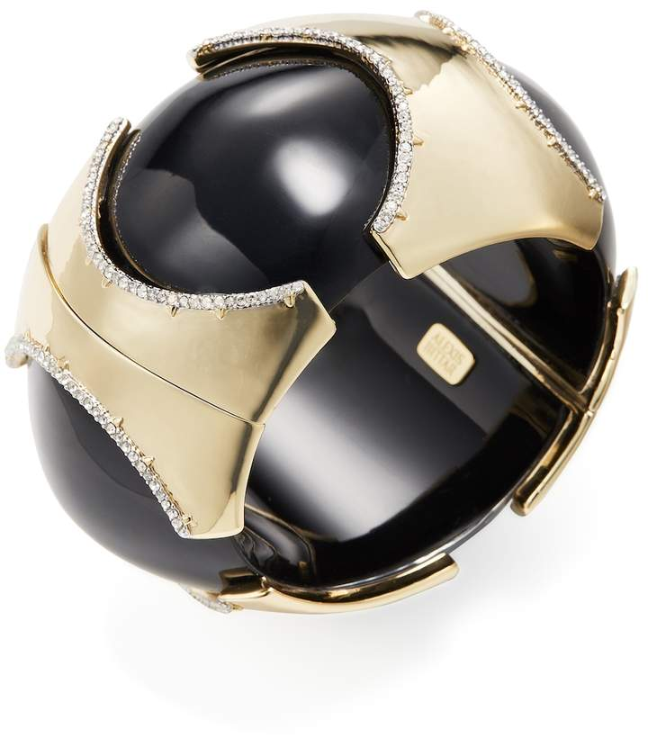 Alexis Bittar Women's Lucite Pave Edge Segmented Bangle Bracelet