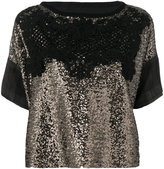 Antonio Marras sequin and embroidery T-shirt - women - Polyester/Virgin Wool - 42