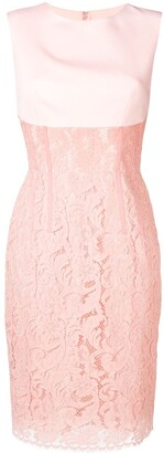 Sophia Kah Panelled Lace Dress