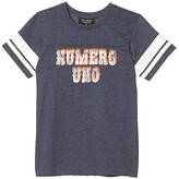 Tiny Whales Numero Uno Tee (Toddler/Little Kids/Big Kids) (Navy) Boy's Clothing