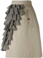 Kolor ruffle panel skirt - women - Cotton/Nylon/Polyester/Cupro - 2
