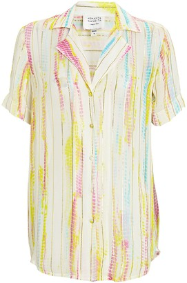 HEMANT AND NANDITA Tie-Dye Button-Down Shirt