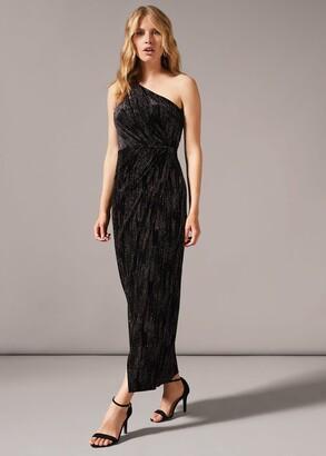 Phase Eight Glitterai One Shoulder Maxi Dress