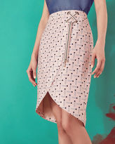 Ted Baker Pencil print crossover front skirt