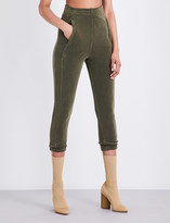 Yeezy Skinny cropped stretch-towelling jogging bottoms