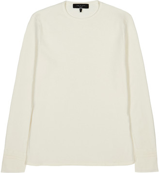 Rag & Bone Ivory fine-knit jumper