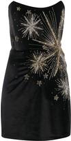 retrofete embellished velvet strapless mini dress