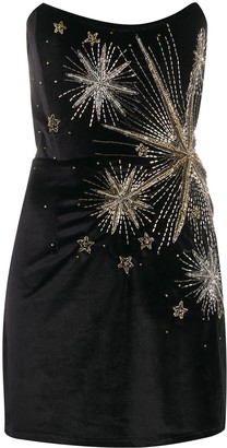 retrofete Embellished Velvet Strapless Mini Dress