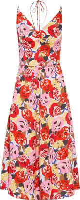 Rebecca Vallance Blume Floral-print Crepe Halterneck Midi Dress