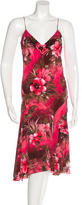 Blumarine Floral-Print Silk Dress