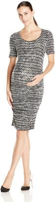 Tart Collections Women's Maternity Bump Roached Midi Dress
