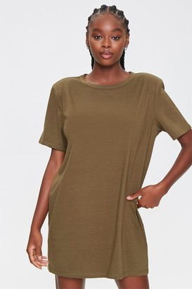 Forever 21 Shoulder-Pad T-Shirt Dress