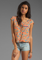 Splendid Watercolor Floral Pocket Top