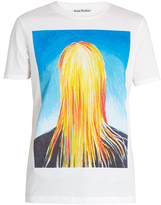 Acne Studios Taline portrait-print cotton T-shirt