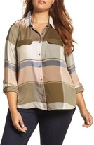 Lucky Brand Plus Size Women's Plaid A-Line Shirt