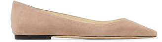 Jimmy Choo ROMY FLAT Ballet-Pink Suede Pointed Flats