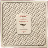 Gucci Ivory Logo Stamp Scarf