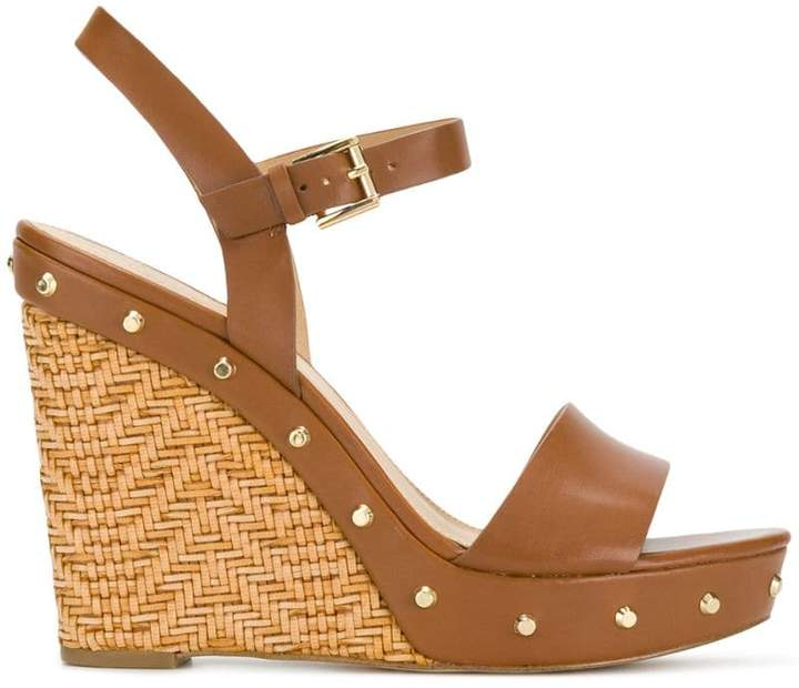 30eef1363 MICHAEL Michael Kors Brown Wedges - ShopStyle UK