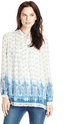 Blu Pepper Women's Border Print Tunic Top