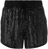 P.A.R.O.S.H. drawstring sequin shorts - women - Viscose/PVC - XS