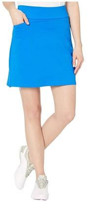 adidas Solid Knit Skort (Glory Blue) Women's Skort